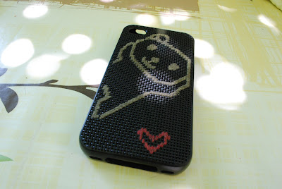 iphone coque DIY fil à broder chat