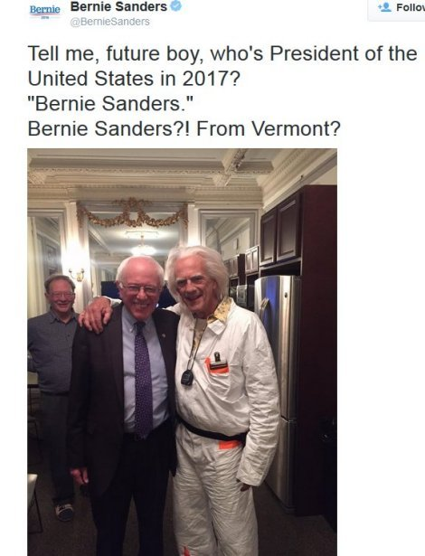 Bernie Sanders with Doc Brown