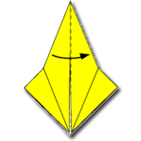 Cara Membuat Origami Ikan 2