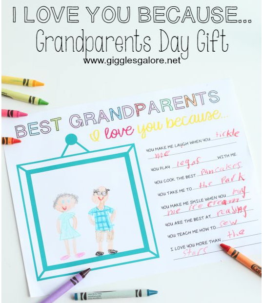 Grandparents Day Printable (free) (Your Older Child Can Fill It In  Independently, And You Can Dictate Your Little Oneu0027s Answers And Let Them  Illustrate).