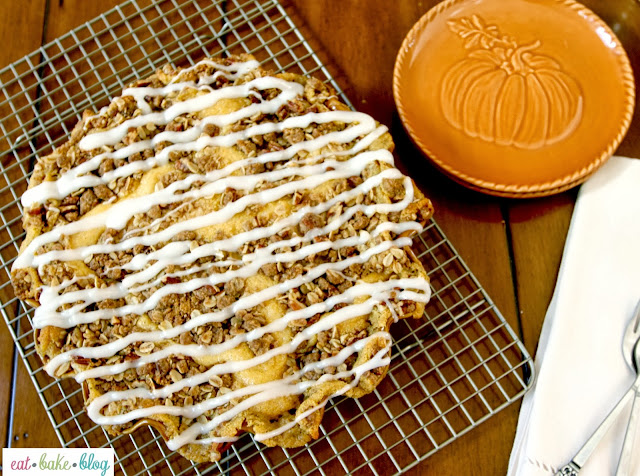 pumpkin cinnamon rolls recipe streusel topping recipe