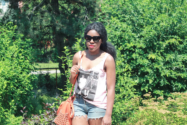 Forever 21 studded tank, DIY studded shorts, Shoedazzle booties, fashion blogger, canadian fashion blogger