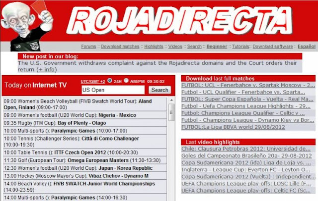 El cierre de RojaDirecta: 10 webs que ofrecen lo mismo