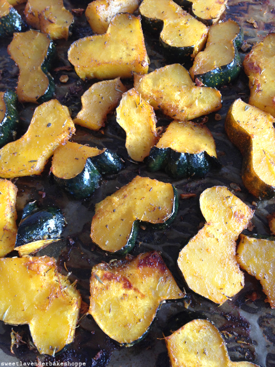 Sweet Lavender Bake Shoppe: acorn squash, roasted with garlic...