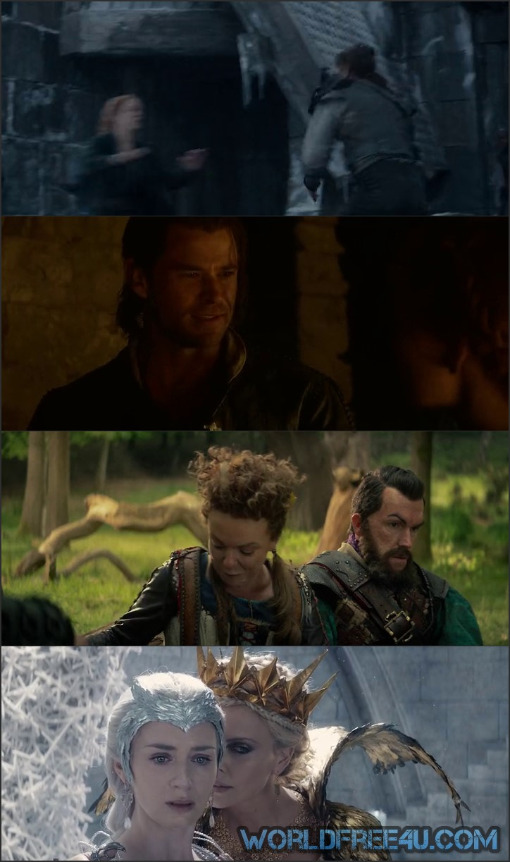 Screen Shot Of The Huntsman: Winter's War 2016 300MB Full Movie Hindi Dubbed Free Download 480P BRRip Small Size PC Movie