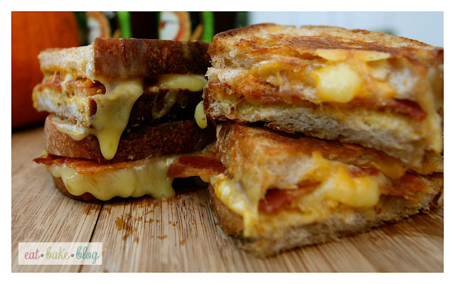 grilled cheese bacon pumpkin mustard