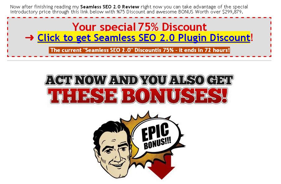 Seamless Seo 2.0 Bonus