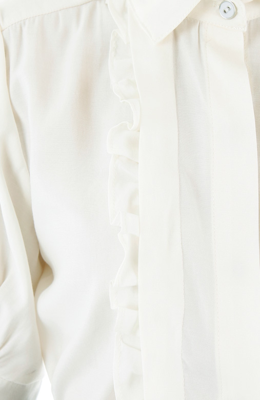 Courtroom Ruffle Blouse - White