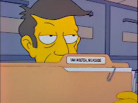 Principal Skinner pulling out Milhous' permanent record