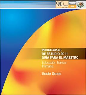 PROGRAMA SEXTO GRADO 2011