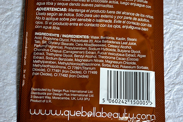 Que Bella Bath and Beauty Chocolate Face Mask Antiaging Antioxidants Skincare Treatments Blog Reviews Ingredients