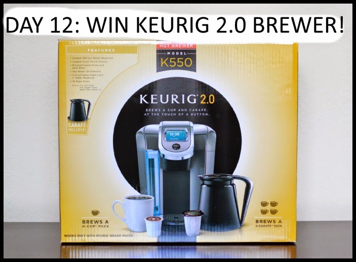 12 Days of Christmas Giveaways Day 12 Keurig 2.0 Brewer