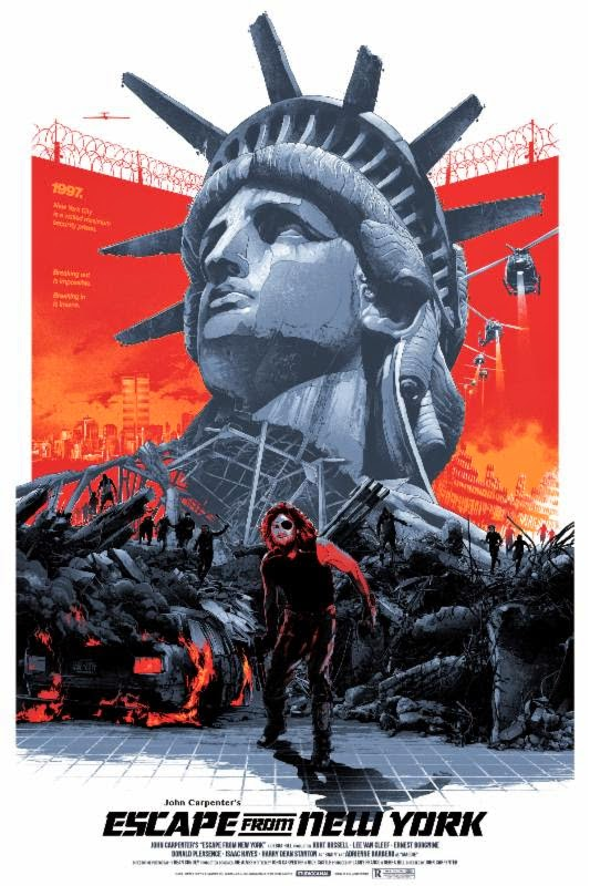 "Escape from New York Standard Edition Screen Print ""Call me Snake"" by Gabz"