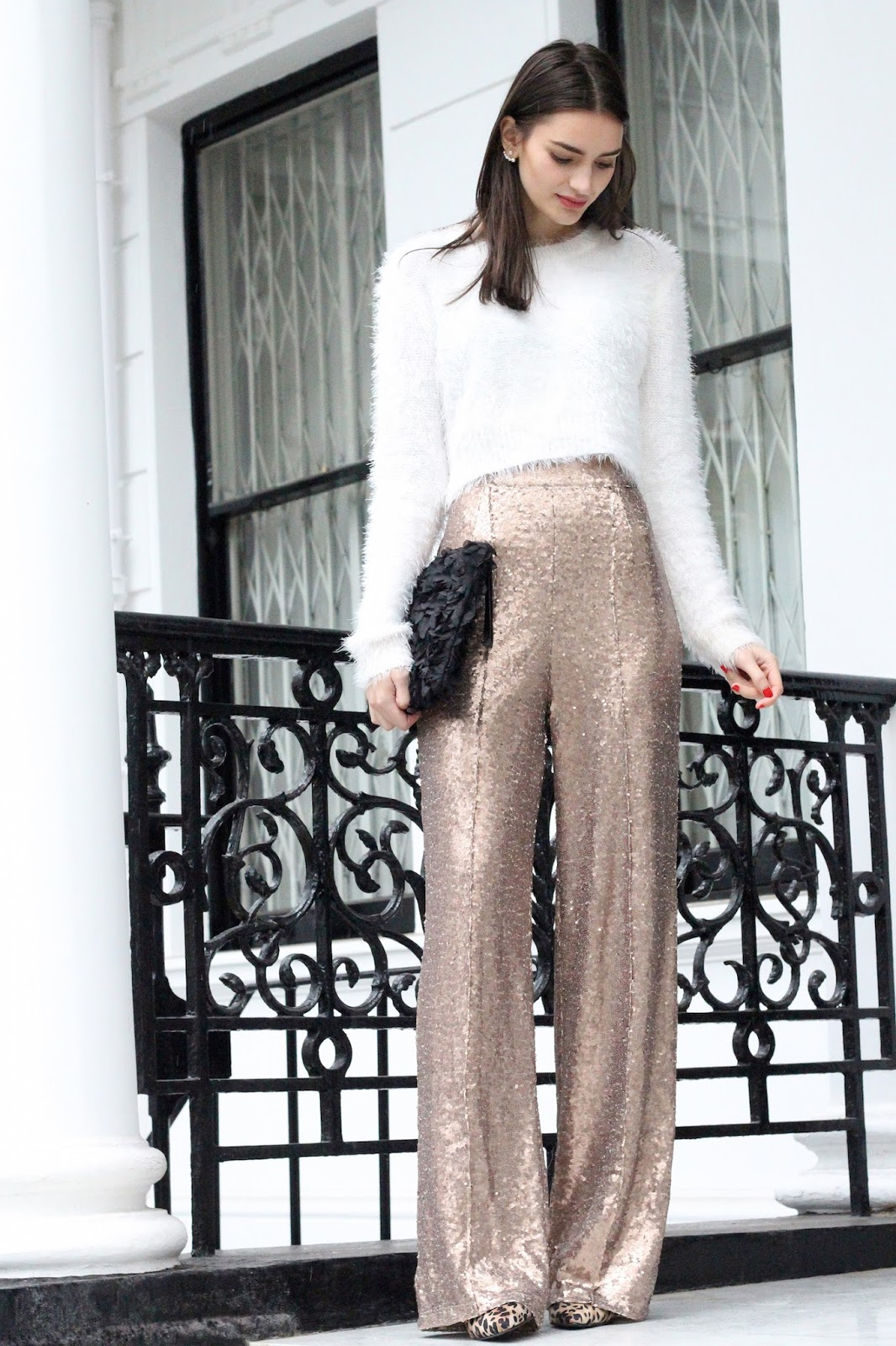 peexo fashion blogger wearing sequin playsuit from rare london
