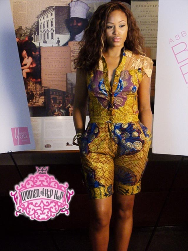 Spotted Rapper Eve In African Print Romper Ciaafrique