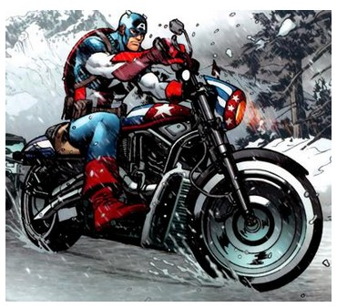 captain america marvel minifigure motorcycle superhero Email This