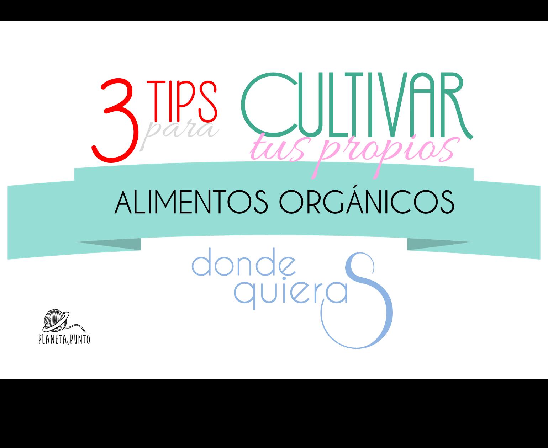cultivar alimentos organicos donde quieras