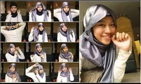 Cara Memakai Jilbab Segitiga Modis dan Modern 2013
