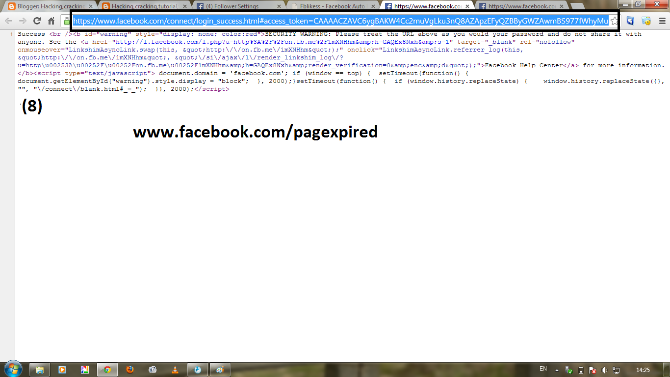 Copy URL of facebook for autolike