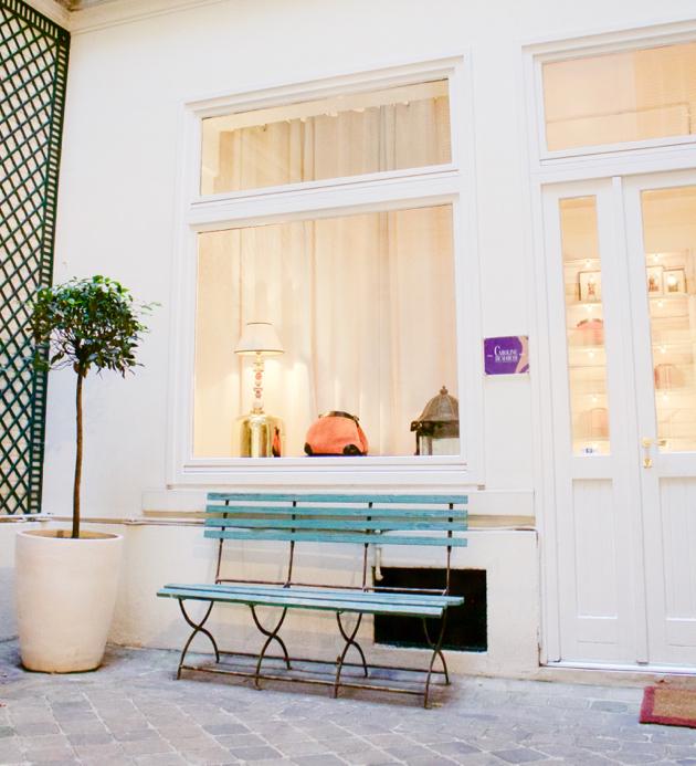 Facade to boutique and showroom of Caroline De Marchi