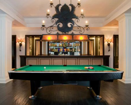 billiards room of bryan williams birdman private residence in miami beach