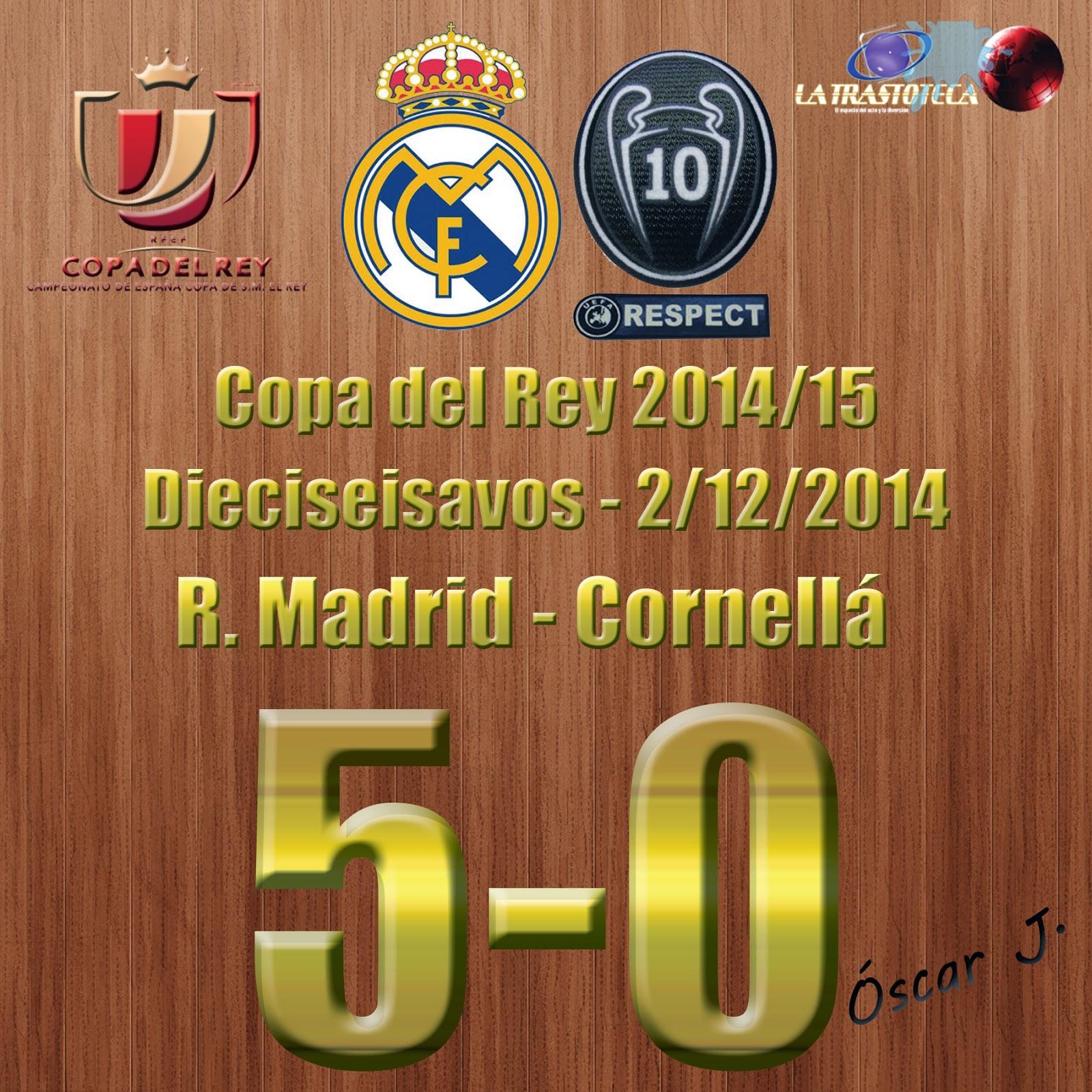 Isco (2-0) - Real Madrid 5-0 Cornellá - Copa del Rey 2014/15 - Dieciseisavos - (2/12/2014)