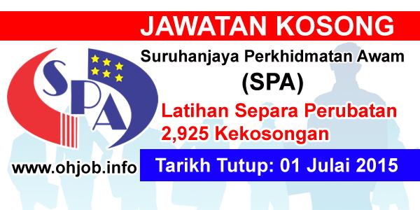 Jawatan Kerja Kosong Suruhanjaya Perkhidmatan Awam (SPA) logo www.ohjob.info julai 2015