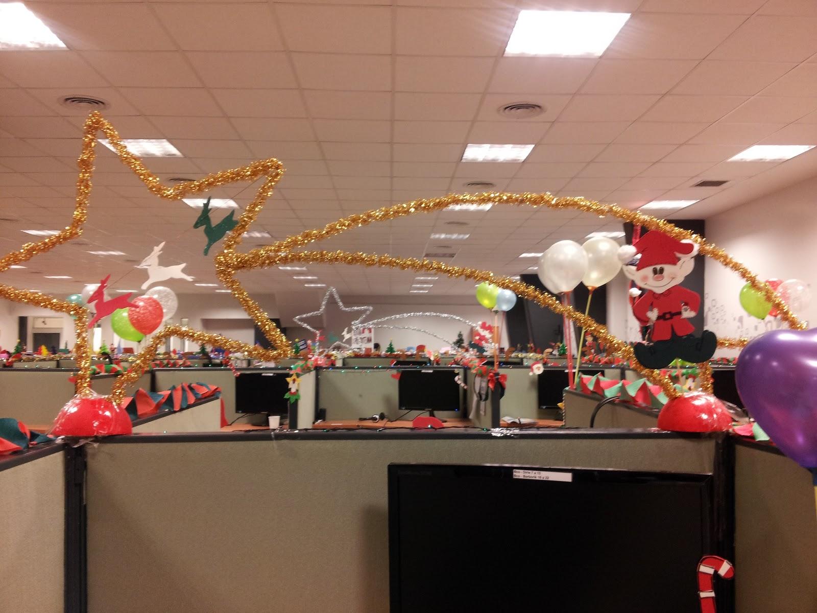 Origamizate imposible no mostrar - Decoracion navidena para oficinas ...