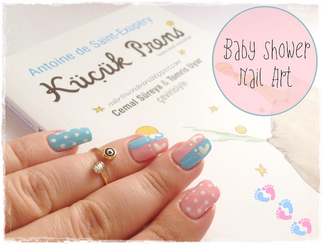 Baby Shower / Gender Reveal / Bebek / Balon Nail Art