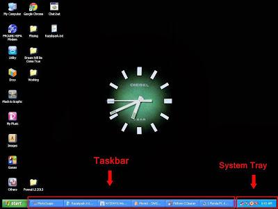 Taskbar dan System Tray