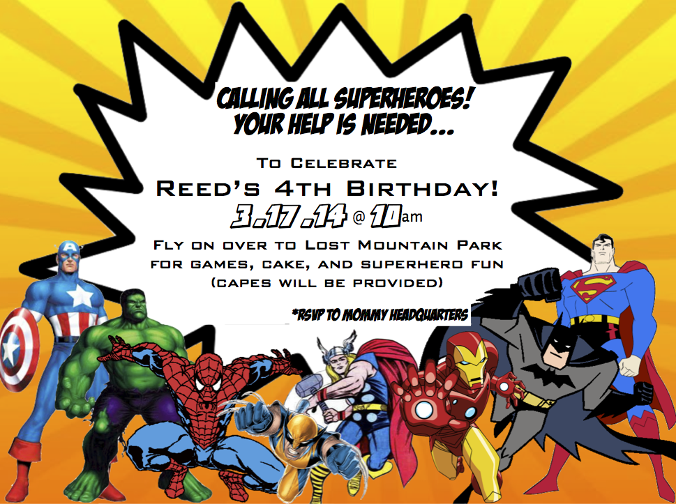 Superhero Party Invites Free for luxury invitation sample