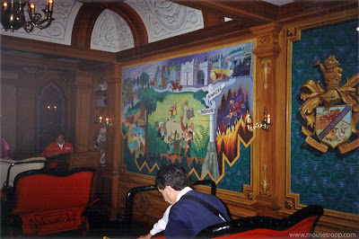 Mr. Toad's Wild Ride Disneyland loading interior mural Toad Hall