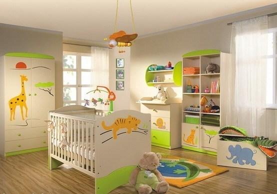 Decoraci n estilo safari en dormitorio del beb - Decoracion dormitorio infantil nino ...
