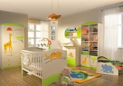 dormitorio safari bebé