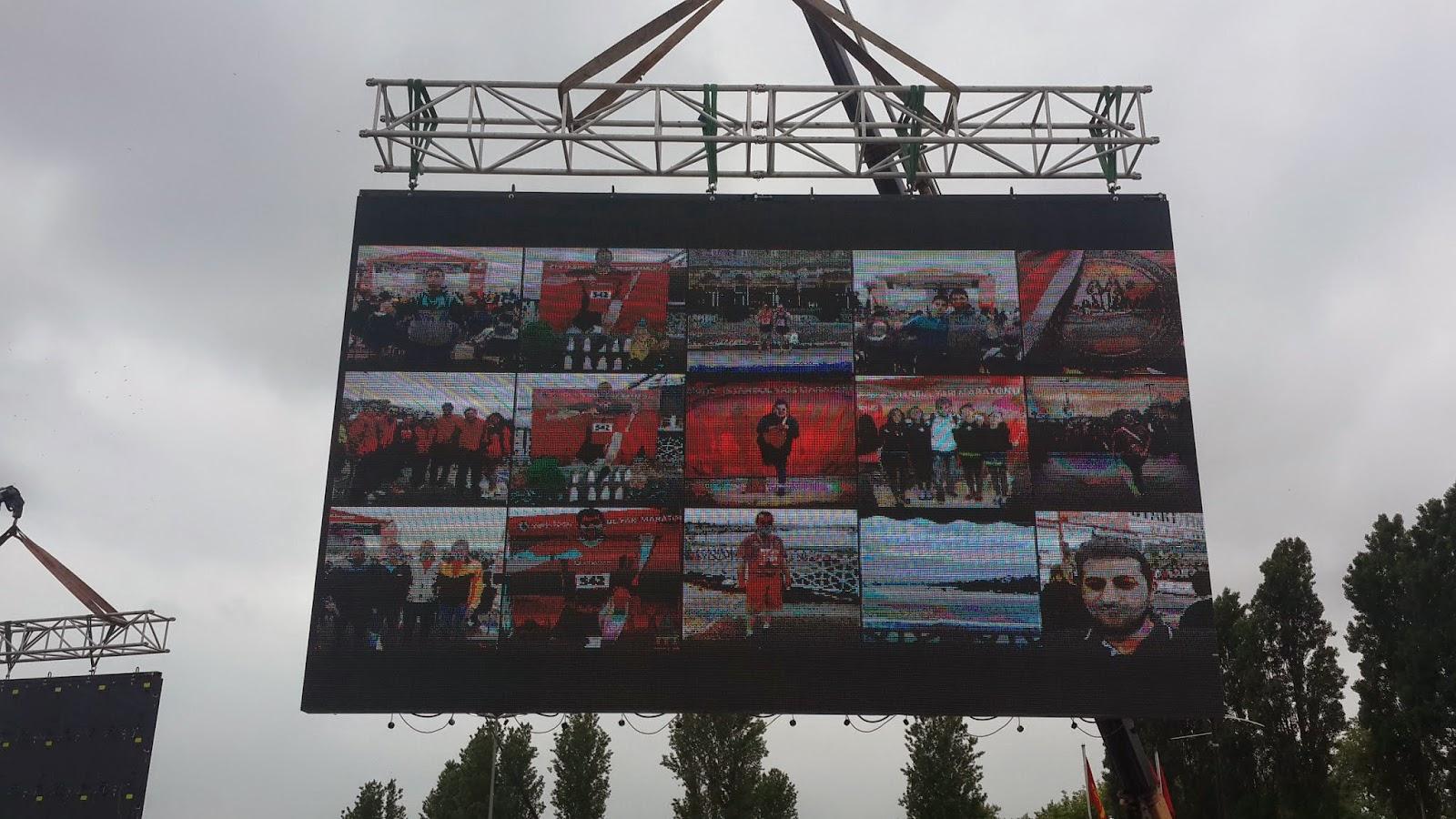 Vodafone Yarı İstanbul Maratonu 2014 Nisan İnstagram Ekranı