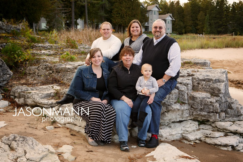 Door County Family Portraits, Beach Family Portrait