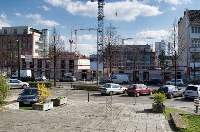 Baustelle Townscape one, Neubau einer Wohnanlage mit 157 Wohneinheiten, Konrad-Wolf-Strasse 78-81 / Mittelstrasse 4-5A, 13055 Berlin, 27.03.2014