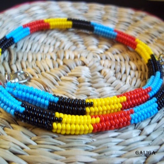 Beaded necklace-colorful seed bead neclace-ethnic style beaded jewelry
