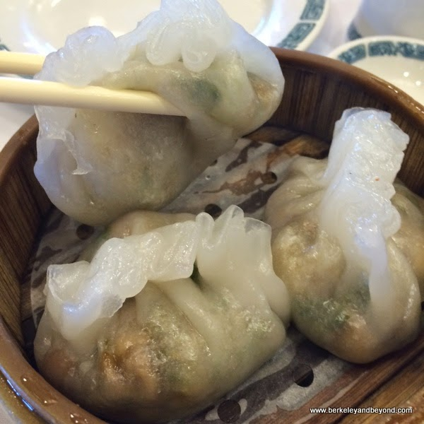 shrimp-peanut dumplings at  Hong Kong Flower Lounge restaurant in Millbrae, California