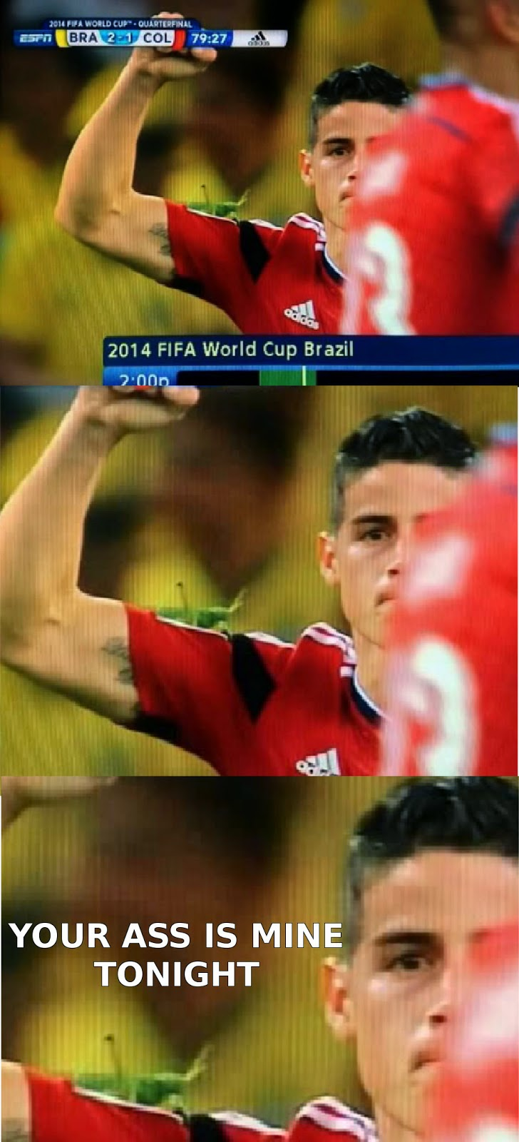 Giant insect tries to murder James Rodriguez