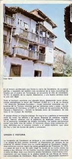Folleto turistico de Candelario Salamanca del año 1970-1