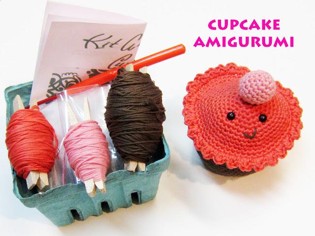 Kit cupcake amigurumi