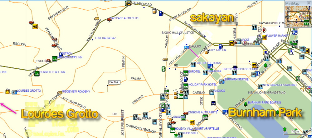 How To Go To Baguio Attractions Lourdes Grotto And Diplomat - Baguio map
