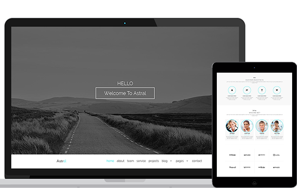 Astral – Creative Onepage Multipurpose Template