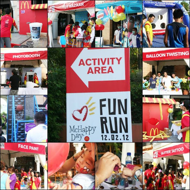 McHappy Day Fun Run 2012 activity area