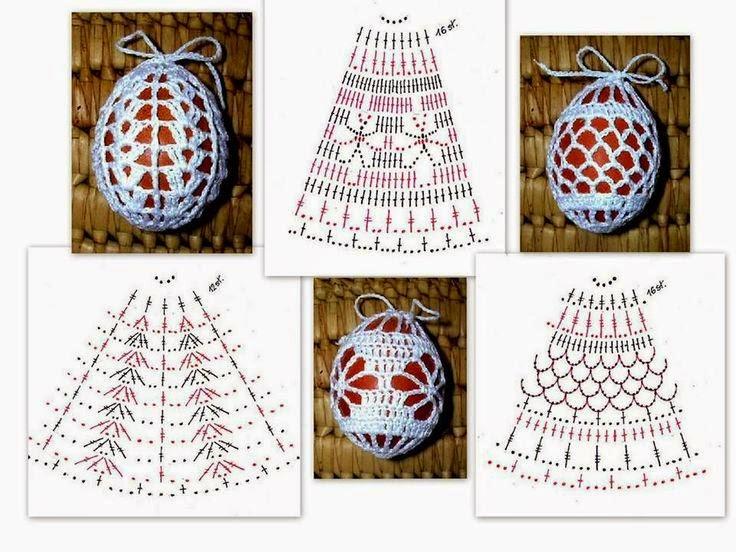 Схемы для вязания крючком пасхальное яйцо 771