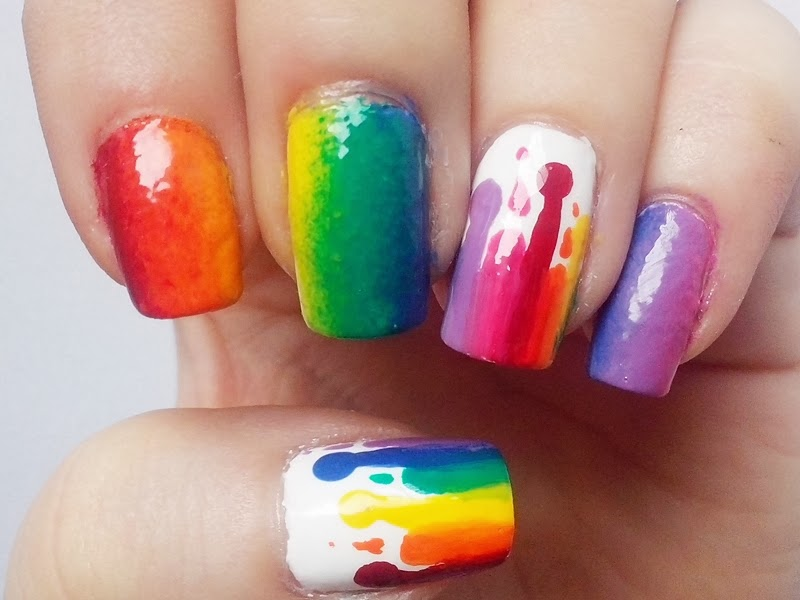 31DC2014 Day 9: RAINBOW Nails