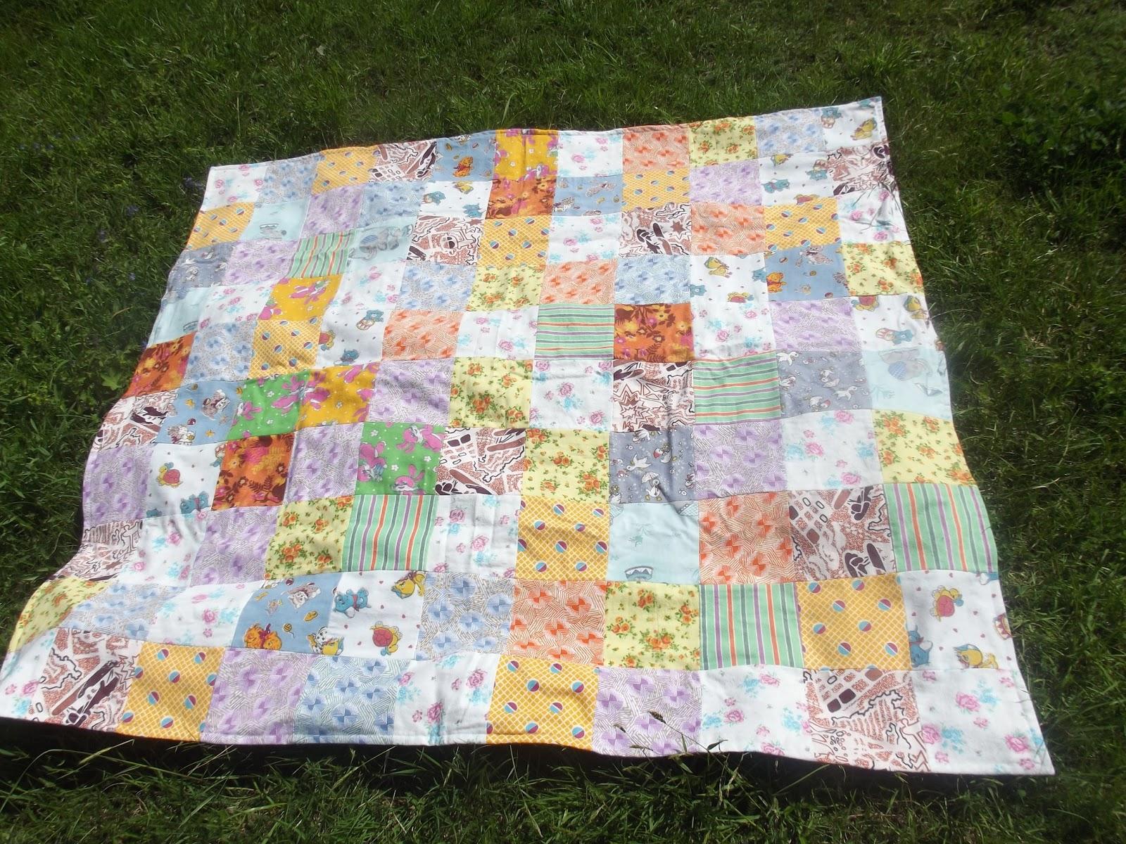 Одеяло из квадратов ткани своими руками 32