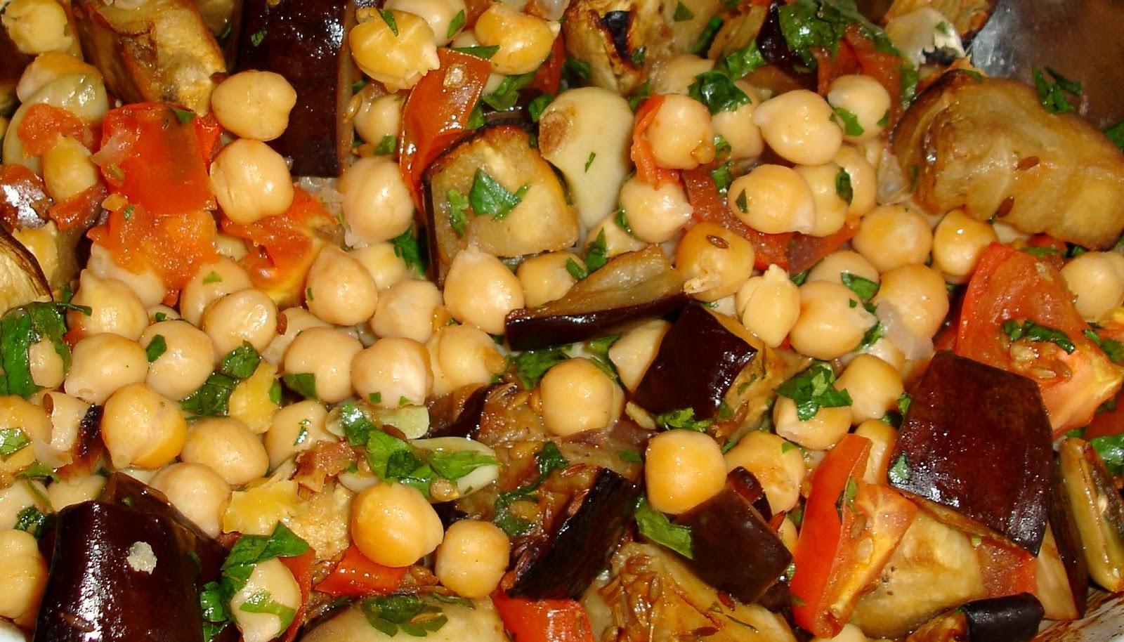 Chilicalamansi ensalada tibia de garbanzos y berenjenas - Cordero estilo marroqui ...