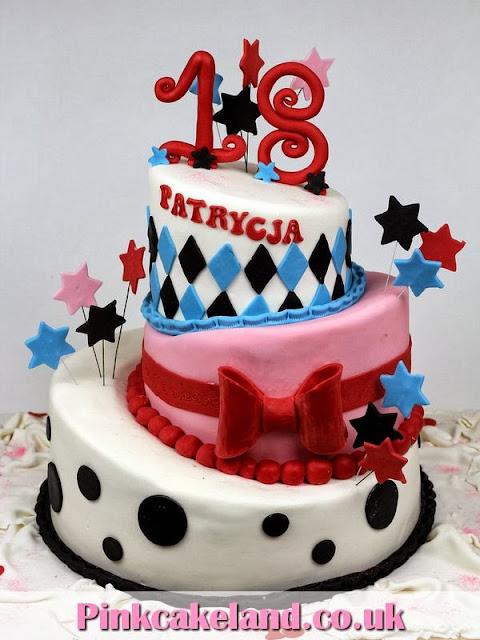 Girls 18th Birthday Cakes - Topsy Turvy Cake in London